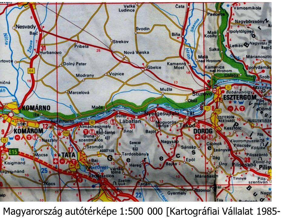 Magyarország autótérképe 1:500 000 [Kartográfiai Vállalat 1985-86]